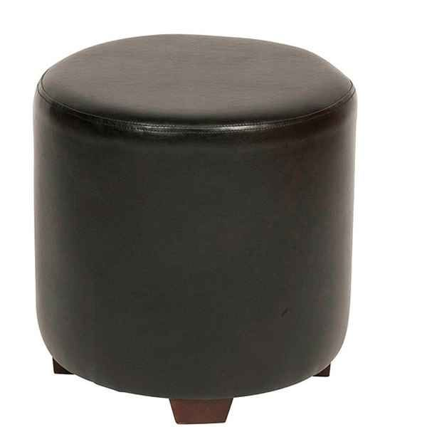 Outstanding Drum Pouf Faux Leather Uk Made Black Brown Red Cream Creativecarmelina Interior Chair Design Creativecarmelinacom