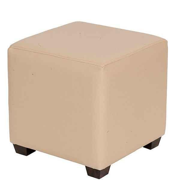 Pleasing Cream Cube Low Stools Creativecarmelina Interior Chair Design Creativecarmelinacom