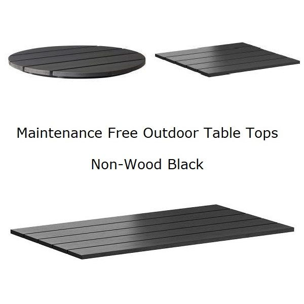 Maintenance Free Outdoor Table Tops, Replacement Outdoor Table Tops