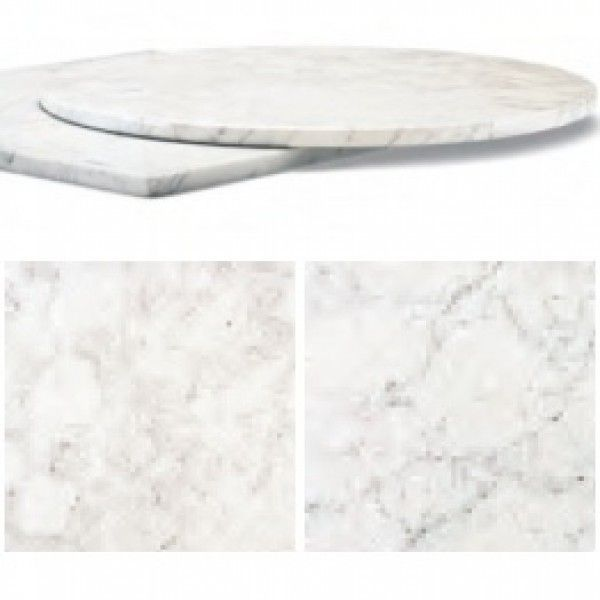 Square Or Round Italian White Carrara Marble Table Tops