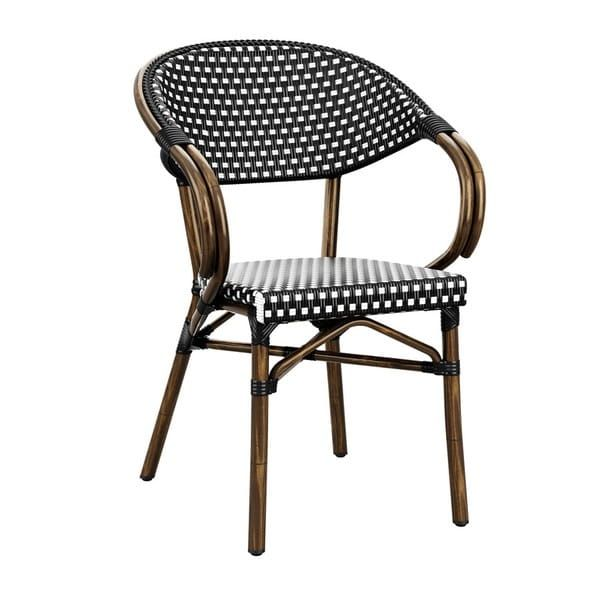 Panda French Bistro Outdoor Arm Chairs, French Bistro Furniture Outdoor