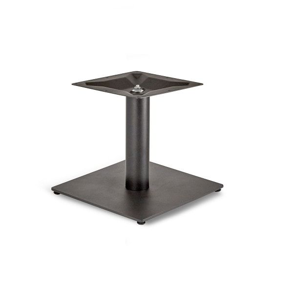 Flat Profile Small Square Table Bases With Round Column In Coffee