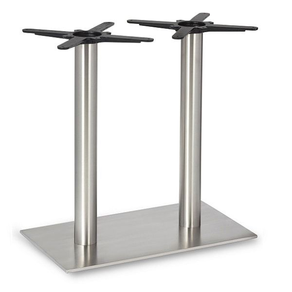 Profile Brushed Steel Twin Dining Table Legs Rnd Columns 344408