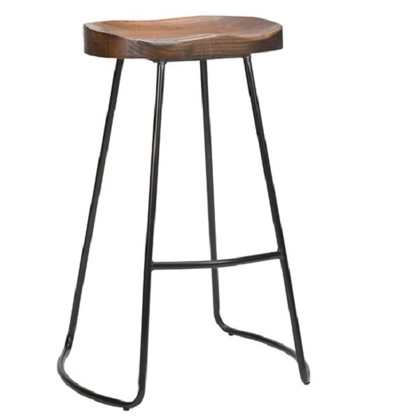 Incredible Saddle Black Bar Stools Industrial Style Machost Co Dining Chair Design Ideas Machostcouk