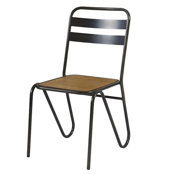 Sirius Industrial Rustic Metal Cafe Chairs
