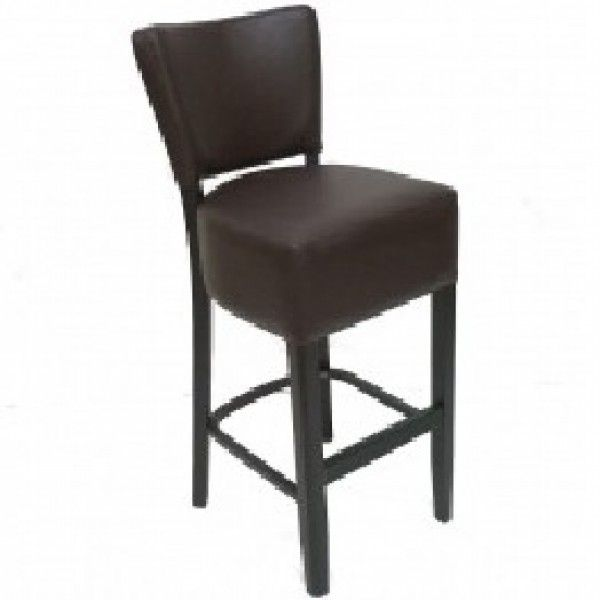 Thrasher Faux Leather High Bar Stools Brown Black Red Cream