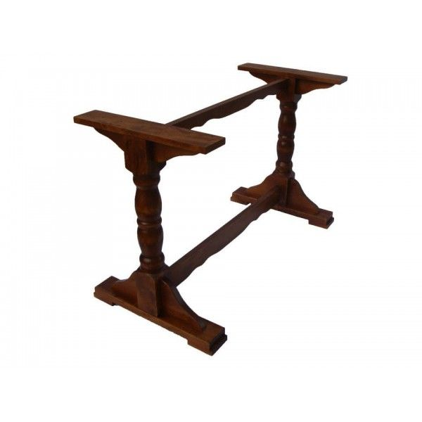 Buy Solid Timber Wooden Table Base For Dining In Trafalgar Twin Pedestal Style