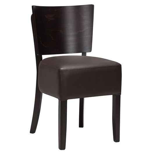 Pleasant Alto Vb Dark Brown Dining Chairs Faux Leather Wenge Evergreenethics Interior Chair Design Evergreenethicsorg