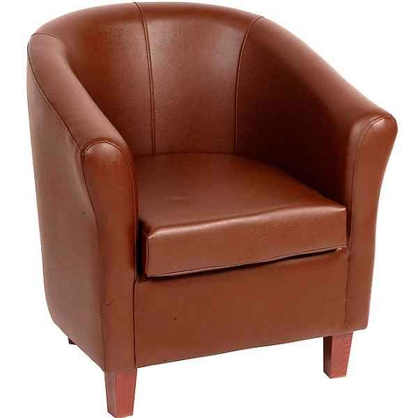 Astounding York Panda Faux Leather Tub Chairs Black Brown Cream Or Red Squirreltailoven Fun Painted Chair Ideas Images Squirreltailovenorg