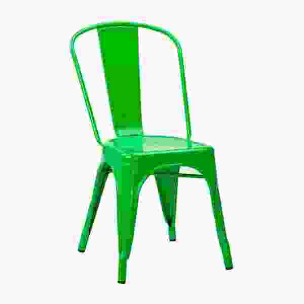 Copper, Gun Metal, White, Black, Red Or Green French Bistro Chairs    Industrial Style